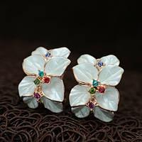 """Серьги """"Восточные цветы ваниль"""""""