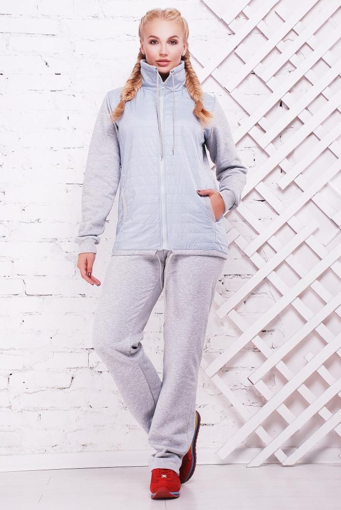 75d15766 Женский теплый спортивный костюм Николетт / размер 52-62, цвет светло серый