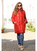 Женская стильная куртка большого размера Моника размер 48-72 цвет красный