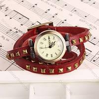 Женские наручные часы браслет JQ красные, фото 1