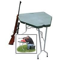 Стол для стрельбы MTM Predator Shooting Table. Материал – пластик и алюминий. Цвет – зеленый.