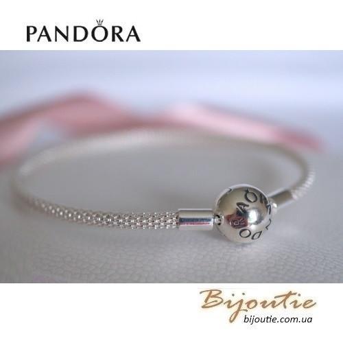 Pandora браслет с сетчатым плетением 596543 серебро 925 пандора