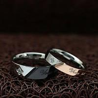 """Кольца для влюбленных """"Хранители Спокойствия"""" [жен. 15.9 16.5 17.3 18.2 муж. 17.3 18.2 19.0 20.0 размеры в наличии]"""