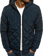 Куртка мужская легкая стеганая на синтепоне синяя