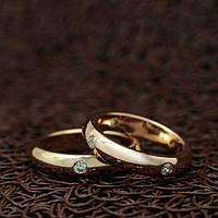 """Венчальные кольца """"True love"""" [16.0 16.5 17.0 17.5 18.0 19.0 размеры в наличии]"""