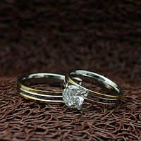 """Парные кольца из нержавеющей медицинской стали """"Ты моя любовь"""" [жен. 16.5 17.3 18.2 19.0 муж. 16.5 17.3 18.2 19.0 в наличии]"""