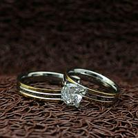 """Парные кольца из нержавеющей медицинской стали """"Ты моя любовь"""" [жен. 18.2 19.0 муж. 16.5 17.3 в наличии]"""