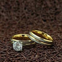 """Парные кольца из нержавеющей медицинской стали """"Любовь навсегда"""" [жен. 16.5 17.3 18.2 19.0 муж. 16.5 17.3 18.2 19.0 размеры в наличии]"""