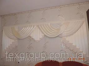 Атласный ламбрекен Анабель в спальню, фото 3
