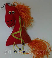Мягкая игрушка сувенир лошадка