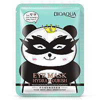 Питательная черная тканевая маска для кожи вокруг глаз BIOAQUA Eye Mask Hydra Nourish