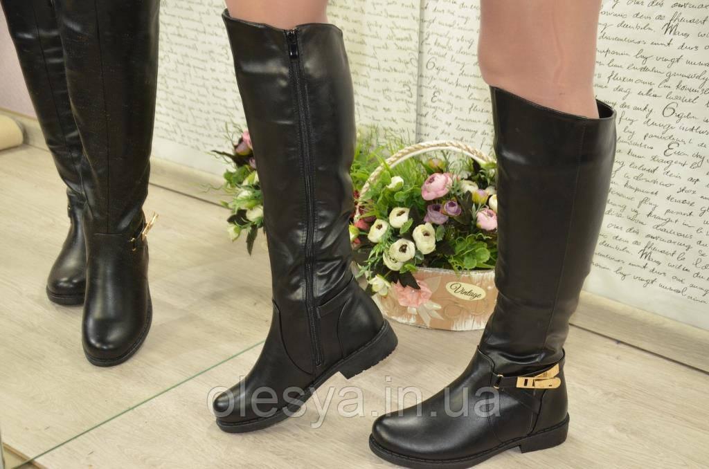 Зимние женские сапоги черные Супер комфортные! Размеры 37, 40