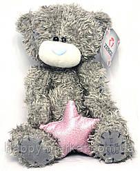 """Игрушка """"Мишка Тедди"""" со звездой (плюшевый) 20 см., 2 вида №21-Т"""