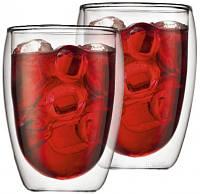 Стеклянные стаканы с двойными стенками  Bodum Pavina 350 мл (ОРИГИНАЛ) 2 шт.