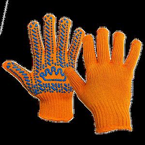 """Перчатки """"Корона"""" оранжевые"""