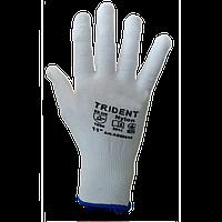 Перчатки TRIDENT нейлоновые облитые нитрилом 13 класс серые