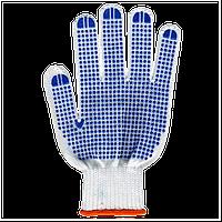 Перчатки Полиэстер с ПВХ 6 нитей белые