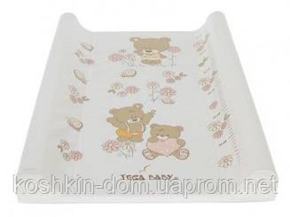 Пеленальная доска Tega Teddy Bear MS-009  белый