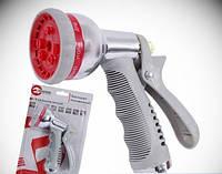 INTERTOOL Пистолет-распылитель для полива хромированный 8-ми функциональный AB INTERTOOL GE-0004