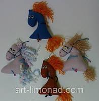 Мягкая игрушка сувенир лошадка, фото 1