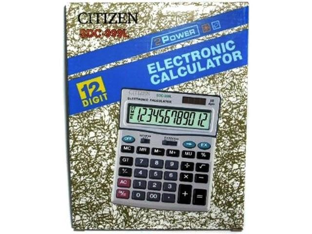 Калькулятор Citizen SDC 999L