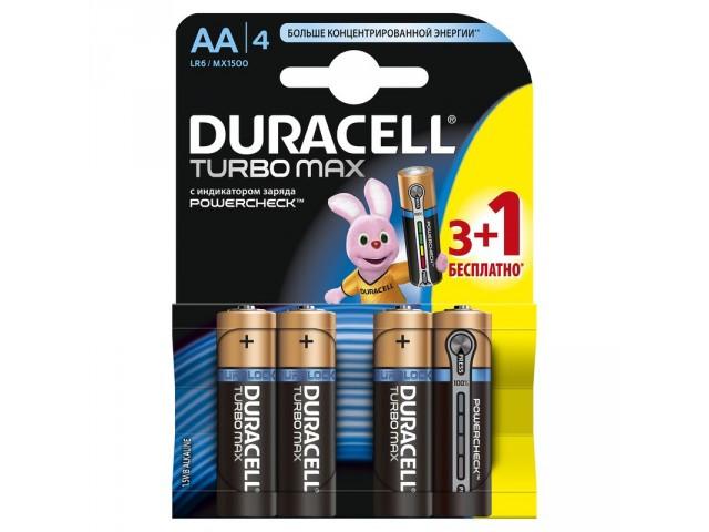 Батарейки Duracell Turbo Max LR06 AA