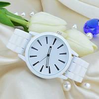 Часы женские силиконовые (женева) Geneva белые, фото 1