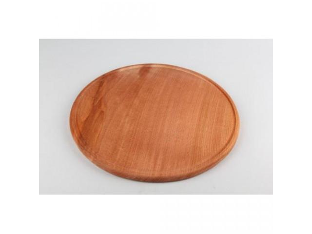 Доска разделочная круглая деревянная 18174