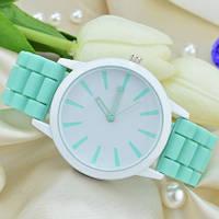 Часы женские силиконовые (женева) Geneva бирюзовые