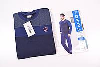 Костюм домашний мужской трикотажный (цв.синий) Falkom 6364 Размер:48,50,52
