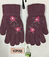 Женская перчатка одинарная ангора™Корона