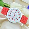 Часы женские силиконовые (женева) Geneva красные