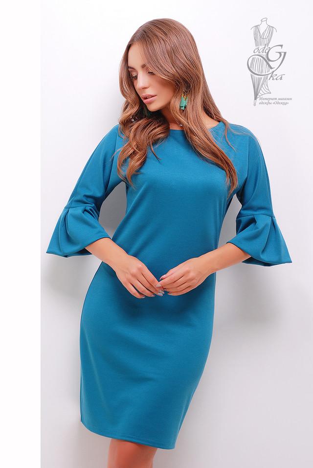 Цвет волна Женского элегантного платья Тамара