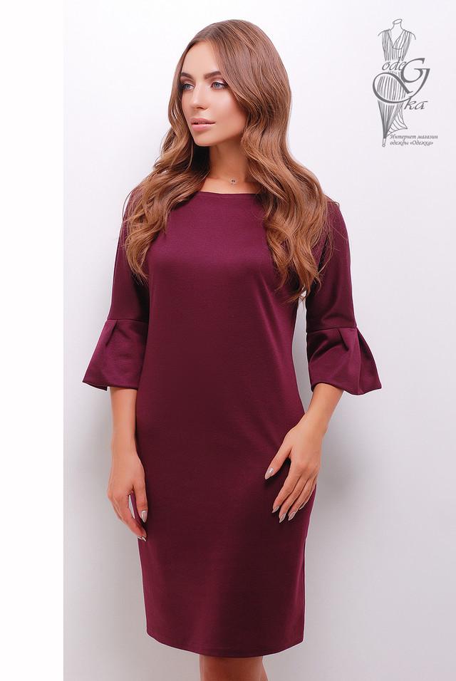 Цвет марсала Женского элегантного платья Тамара