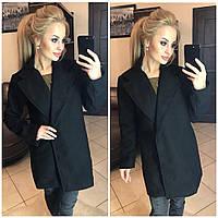 Женское кашемировое пальто на застежке-невидимке, фото 1