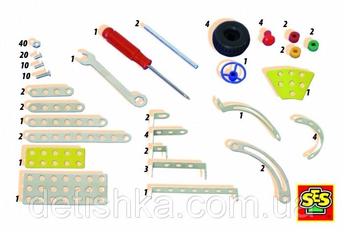 Металлический конструктор Легковая машина
