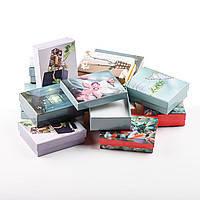 Подарочная коробочка для комплекта фото 9х7х3 см