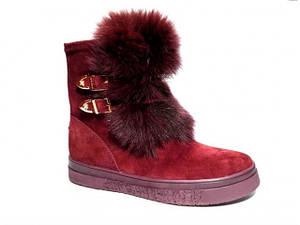 Уггі жіночі ** Belle-Shoes 777 червоний