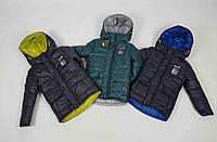Теплая Зимняя куртка на овчине код 665  размеры 104-116, фото 1