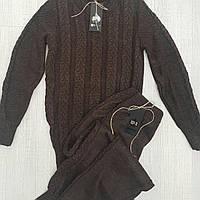 Женский вязаный шерстяной спортивный костюм Рим