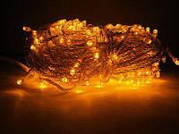 Гирлянда светодиодная на силиконовом проводе 100L желтый цвет