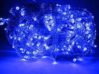 Гирлянда светодиодная на силиконовом проводе 300L синий цвет