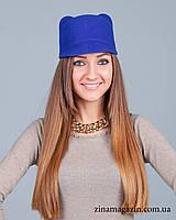 Шляпка с ушками (синяя)