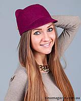Шляпка с ушками (бордо)
