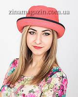 Летняя шляпка с ушками и лентой