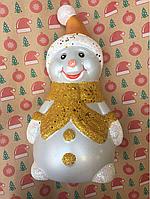 Игрушка новогодняя Снеговик 30 см под елку