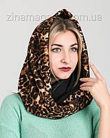 Шарф-снуд леопардовый