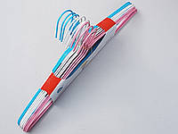 Плечики металлические в полиэтиленовом покрытии микс цветов, 40  см, 10 штук в упаковке