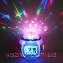 Музичні годинники будильник з проектором Зоряне небо