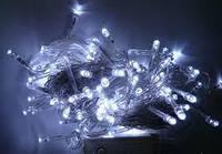 Гирлянда светодиодная на силиконовом проводе 400L белый цвет
